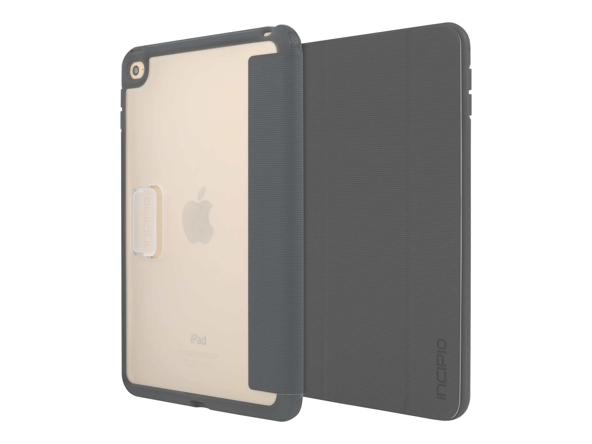 Incipio Octane Co-Molded Impact Absorbing Folio for iPad mini 4, Gray, IPD-277-GRY