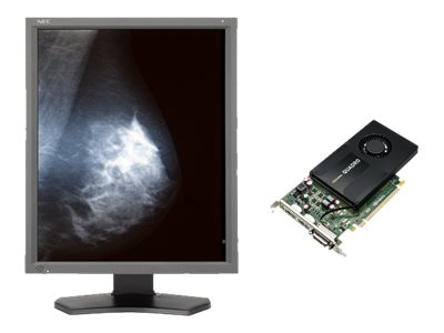 NEC 21.3 MD211G5 5MP LED-LCD Display, Gray with NVIDIA Quadro K2200 Graphics Card, MD211G5-N1, 17919099, Monitors - Medical