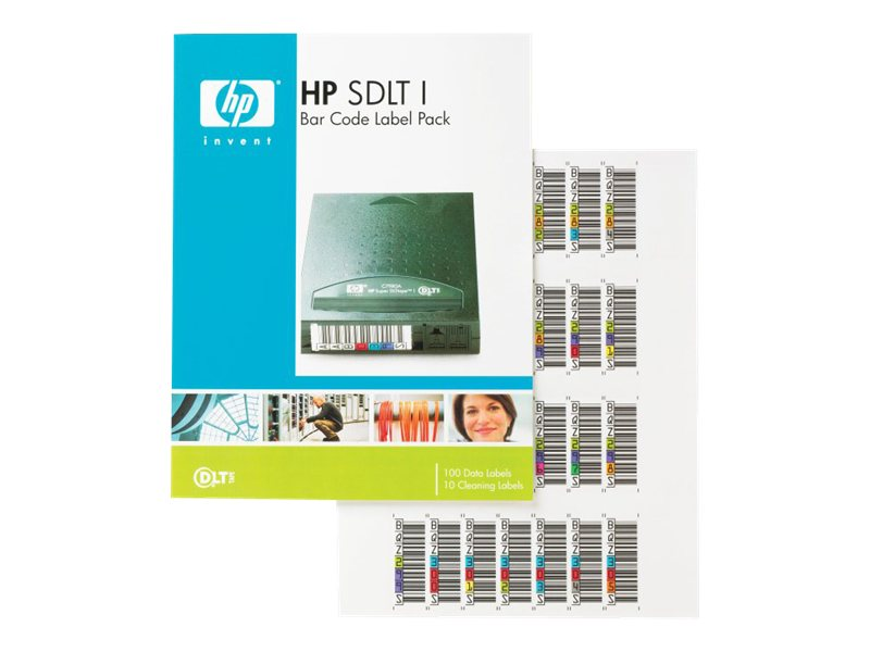 HPE SDLT Barcode Label 100 Pack, Q2003A, 4878056, Paper, Labels & Other Print Media