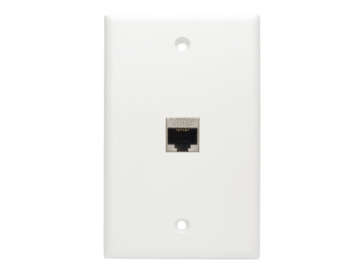 Tripp Lite Cat6 Straight-Through Modular Shielded In-Line Snap-In Coupler with 90-Degree Down-Angled Port, N235-001-SH-D