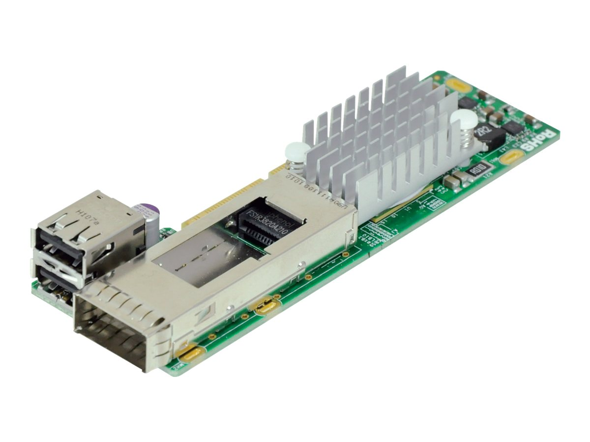 Supermicro MICROLP 1-port IB QDR CONNECTX-3 QSFP, AOC-CIBQ-M1