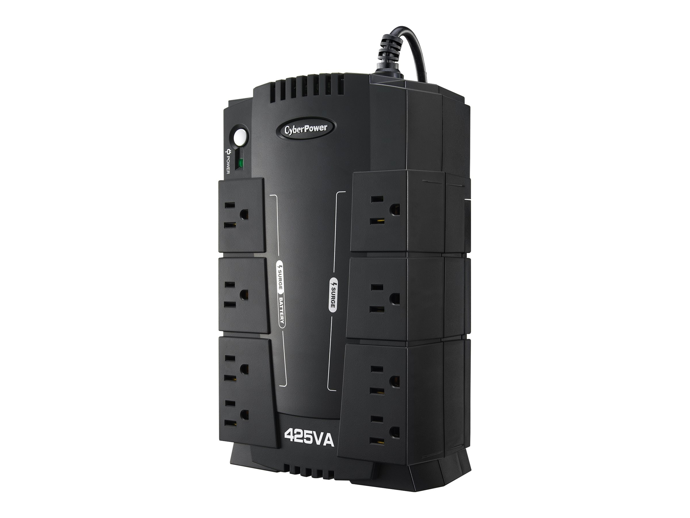 CyberPower 425VA Standby Green UPS (8) 5-15R Outlets USB, Management Software, CP425SLG