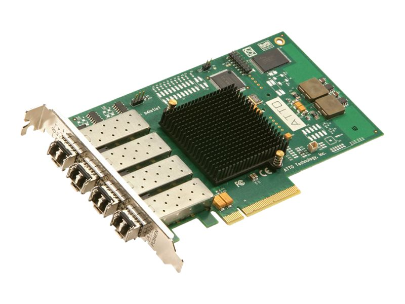 Atto Celerity FC-84EN 8 Gigiabit Fibre Channel - Quad Channel PCIe 2.0 Host Adapter, CTFC-84EN-000, 8981595, Storage Controllers