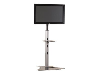 Chief Manufacturing Universal Display Floor Stand for Medium Flat Panel, Silver, 4-7ft, MF1US, 7691465, Monitor & Display Accessories