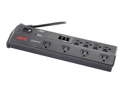 APC Home Office SurgeArrest (8) Outlets, Telephone Splitter with (2) Jacks, 120V, Latin America, P8T3-LM