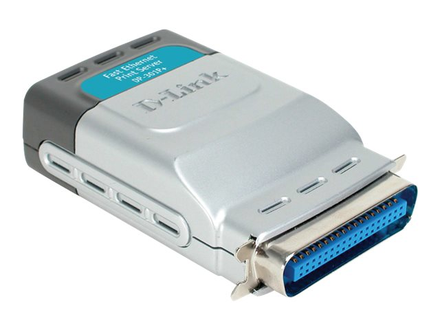 D-Link DP-301P+ Express EtherNetwork Fast Ethernet Print Server, DP-301P+, 5237613, Network Print Servers