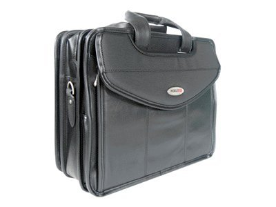 Mobile Edge Ultra V-Load Briefcase, Full Grain Leather, MEVLLU, 6224443, Carrying Cases - Notebook