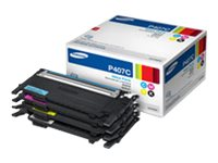 Samsung Black, Cyan, Magenta & Yellow Toner Cartridges for CLP-320 Series, CLP-325 Series & CLX-3185 Series, CLT-P407C, 13239942, Toner and Imaging Components