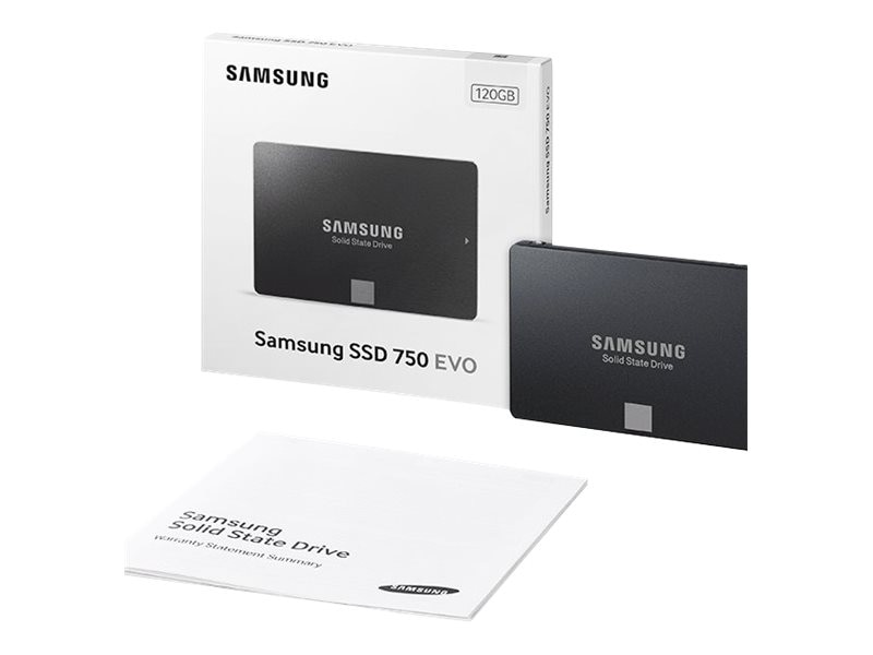 Samsung 120GB 750 EVO SATA 6Gb s 2.5 Internal Solid State Drive, MZ-750120BW, 31506688, Solid State Drives - Internal