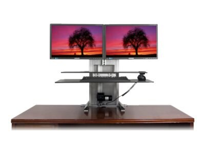 Ergotech One Touch Ultra Dual Sit-Stand Workstation Bundle