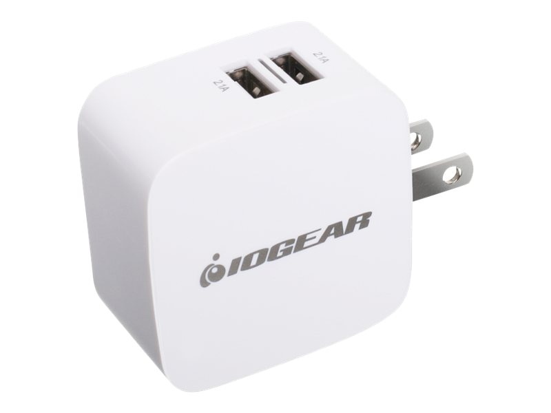 IOGEAR GearPower Dual USB 4.2A 20W Wall Charger, GPAW2U4, 30183135, AC Power Adapters (external)