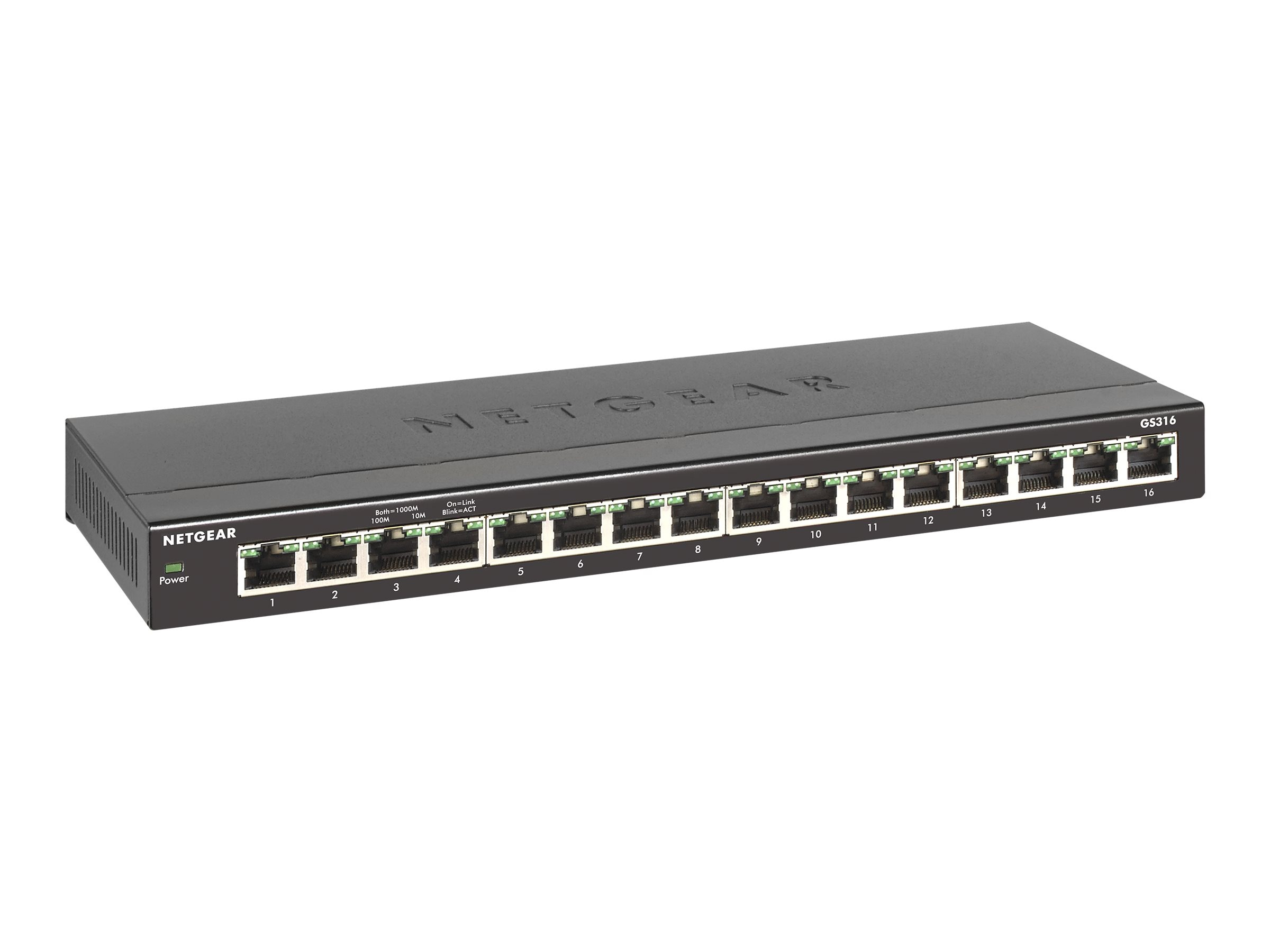 Netgear 16-Port Gigabit Ethernet Switch, GS316-100NAS, 31260438, Network Switches