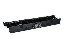Tripp Lite High Capacity Horizontal Cable Manager Finger Duct with Dual-hinge Cover, 1U x 19, Black, SRCABLEDUCT1UHD, 13480390, Rack Cable Management