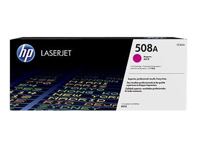 HP 508A Magenta LaserJet Toner Cartridge w  JetIntelligence for M552 M553 Series, CF363A, 19054834, Toner and Imaging Components