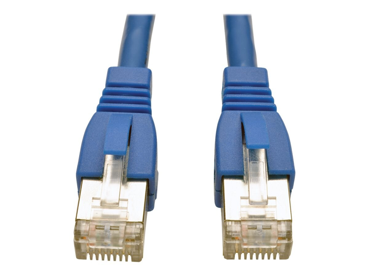 Tripp Lite Augmented Cat6 (Cat6a) Shielded STP Snagless 10G Certified Patch Cable, Blue, 7ft, N262-007-BL
