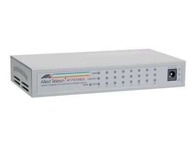 Allied Telesis 8-port 10 100BaseT Unmanaged Switch, AT-FS708LE-10, 328043, Network Switches