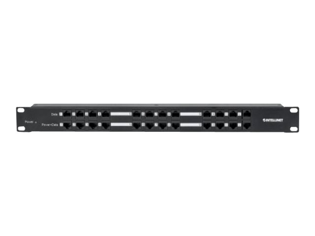 Manhattan INT 12-Port PoE Patch Panel w Adapter