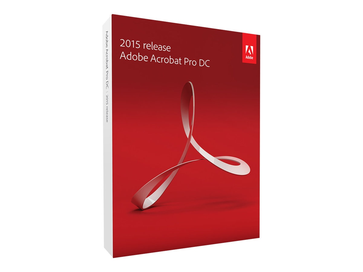Adobe Acrobat Pro DC 2015 Mac Upgrade from Acrobat Pro 10.x and Higher DVD, 65259141