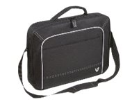 V7 Notebook Carrying Case 17, Black Gray
