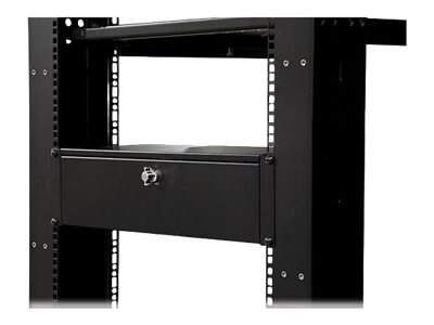 StarTech.com 9in Deep Rack Mount Locking Storage Drawer, 3U, SH39LK