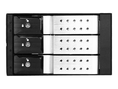 iStarUSA 2 x 5.25 to 3 x 3.5 SAS Cage - Silver, BPN-DE230SS-SIL, 12421460, Hard Drive Enclosures - Multiple