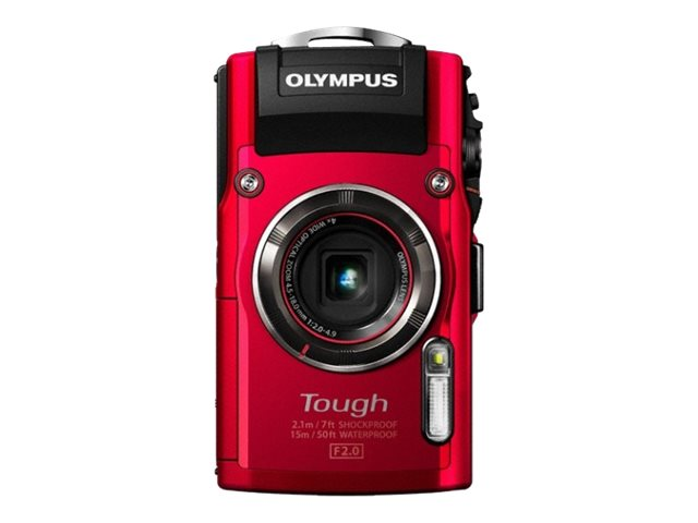 Olympus Stylus TOUGH TG-4 Digital Camera, 16MP, 4x Zoom, Red, V104160RU000, 19857952, Cameras - Digital - Point & Shoot