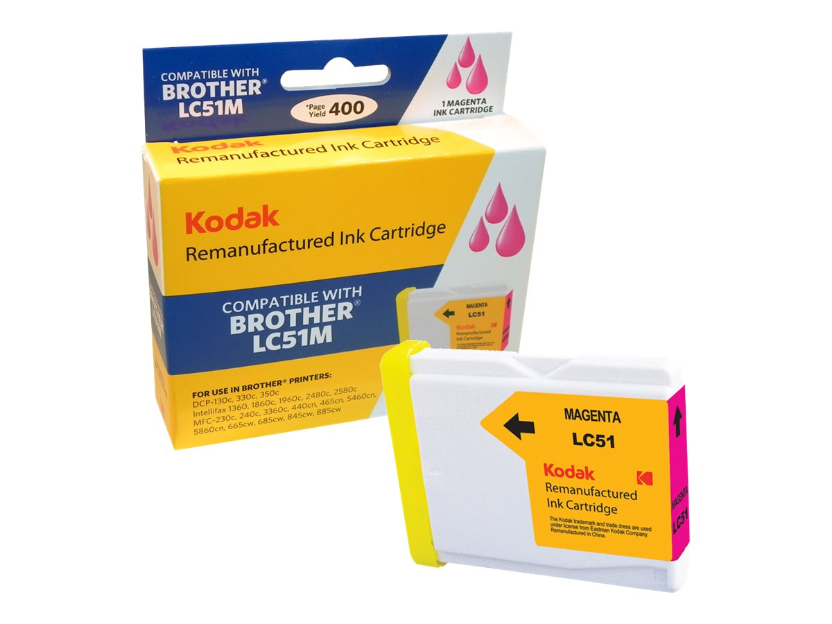 Kodak LC51M Magenta Ink Cartridge for Brother DCP, LC51M-KD, 31361757, Ink Cartridges & Ink Refill Kits