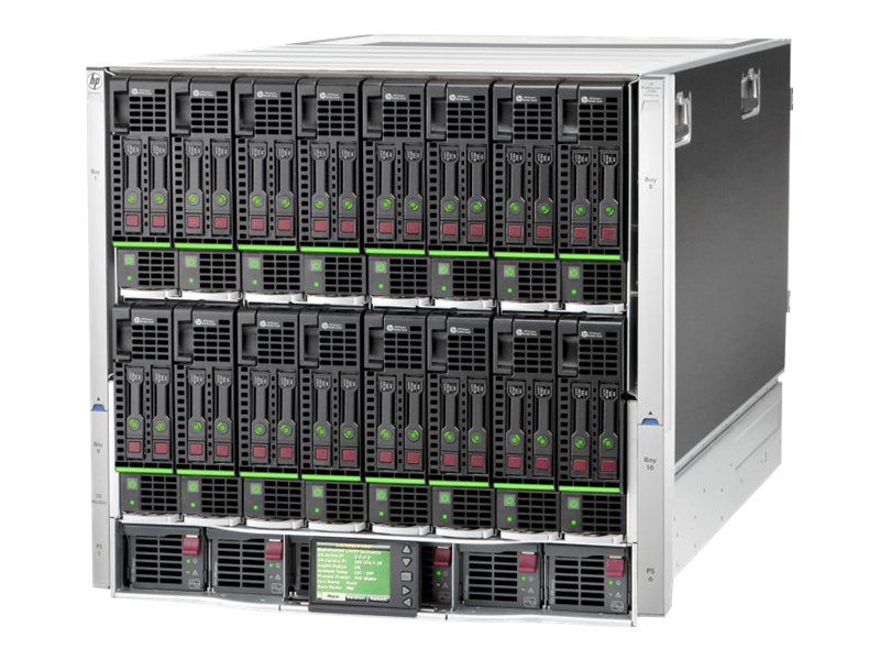 HPE BLc7000 Blade Enclosure Single Phase 6xPower Supplies 10xFans 16xInsight Control Licenses