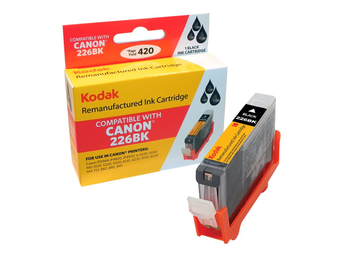 Kodak 4546B001 Black Ink Cartridge for Canon, CLI-226BK-KD