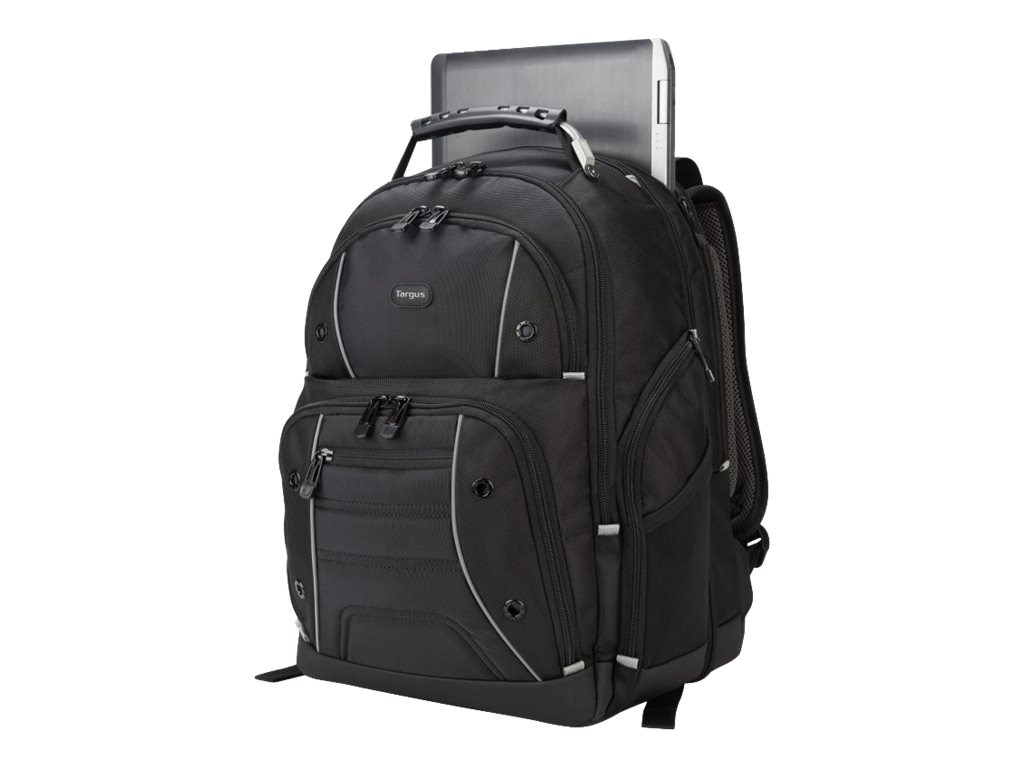 Targus Drifter Checkpoint-friendly Backpack APS 17.3, Black, TSB847, 18698611, Carrying Cases - Notebook