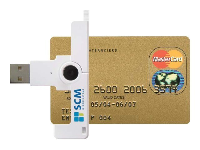 SCM SmartFold Portable ID1 Contact Smart Card Reader, SCR3500