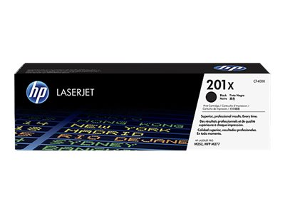 HP 201X High Yield Black Original LaserJet Toner Cartridge w  JetIntelligence for M252, M277, CF400X, 19055301, Toner and Imaging Components