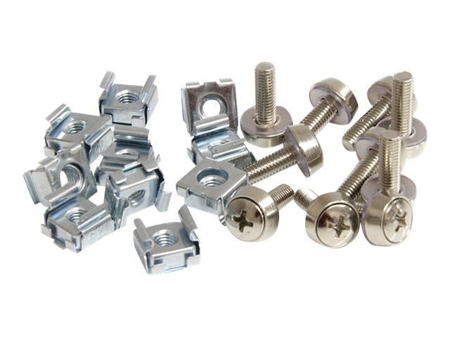 StarTech.com M5 Mounting Screws & Cage Nuts for Server Rack Cabinet (100-pack), CABSCREWM52