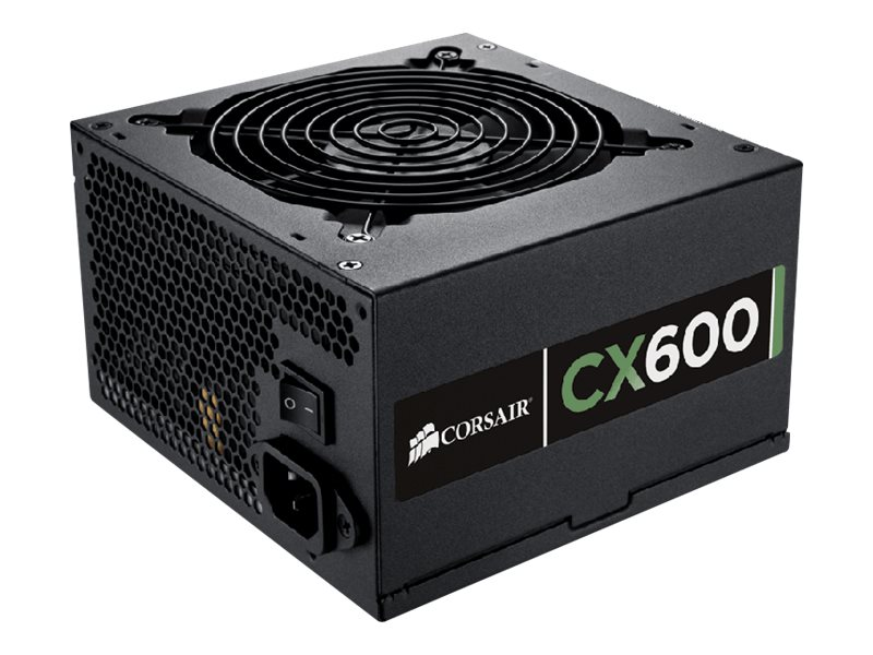 Corsair 600W CX600 ATX Power Supply 80 Plus Bronze, CP-9020048-US, 14878703, Power Supply Units (internal)