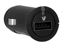 V7 Universal Car Charger USB 2.4A 5V 1-port LED Indicator Fast Charging, DC10024A-2N, 17661286, Automobile/Airline Power Adapters