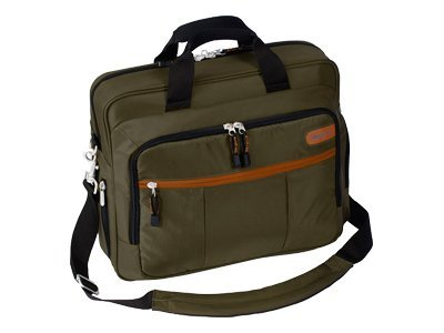 Targus 15.4 Grove Topload EcoSmart Case, Olive, TST022US, 8022917, Carrying Cases - Notebook