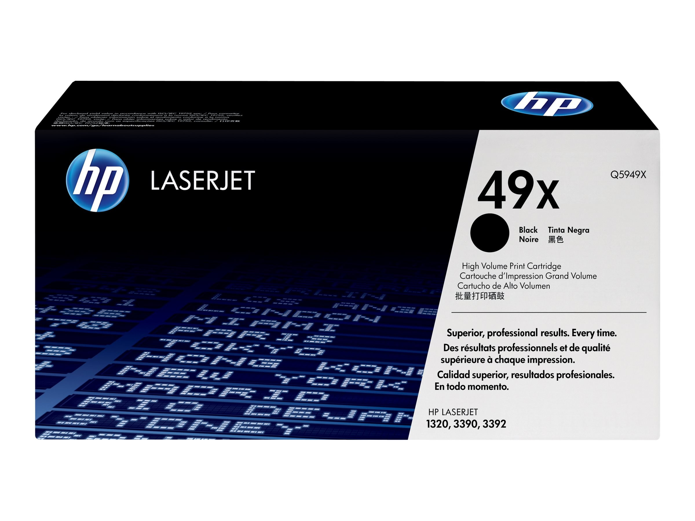 HP 49X (Q5949X) High Yield Black Original LaserJet Toner Cartridge for HP LaserJet 1320, 3390 & 3392