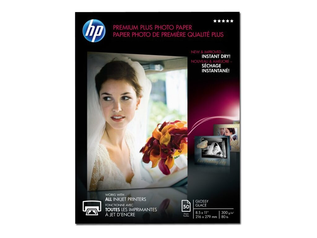 HP 8.5 x 11 Premium Plus Glossy Photo Paper (50-Sheets), CR664A