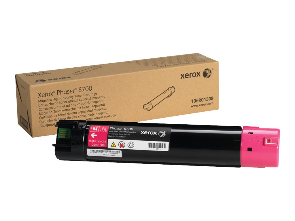 Xerox Magenta High Capacity Toner Cartridge for Phaser 6700 Series Printers, 106R01508, 13355396, Toner and Imaging Components