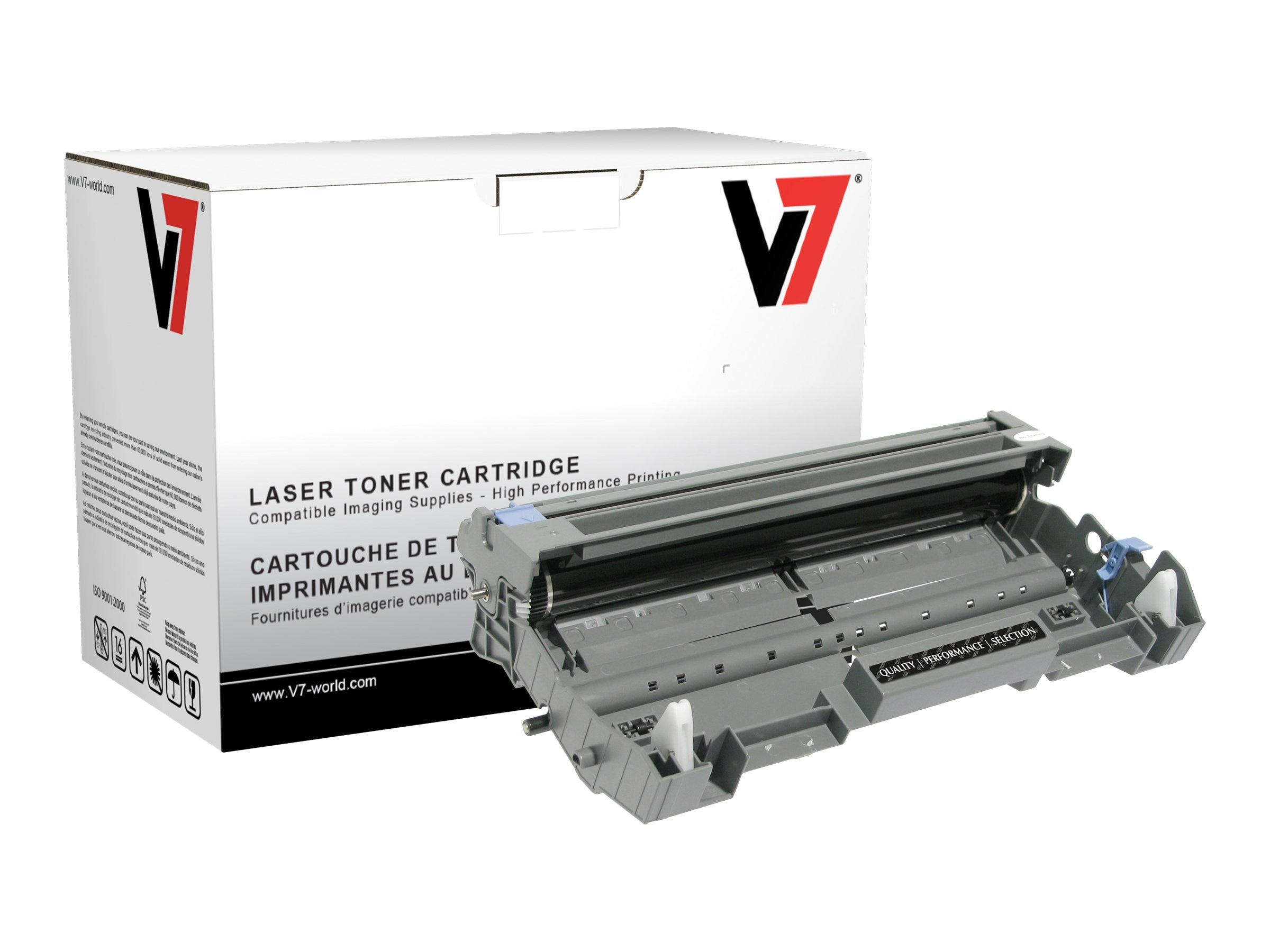 V7 DR620 Black Drum Unit for Brother MLC-8480DN (TAA Compliant)