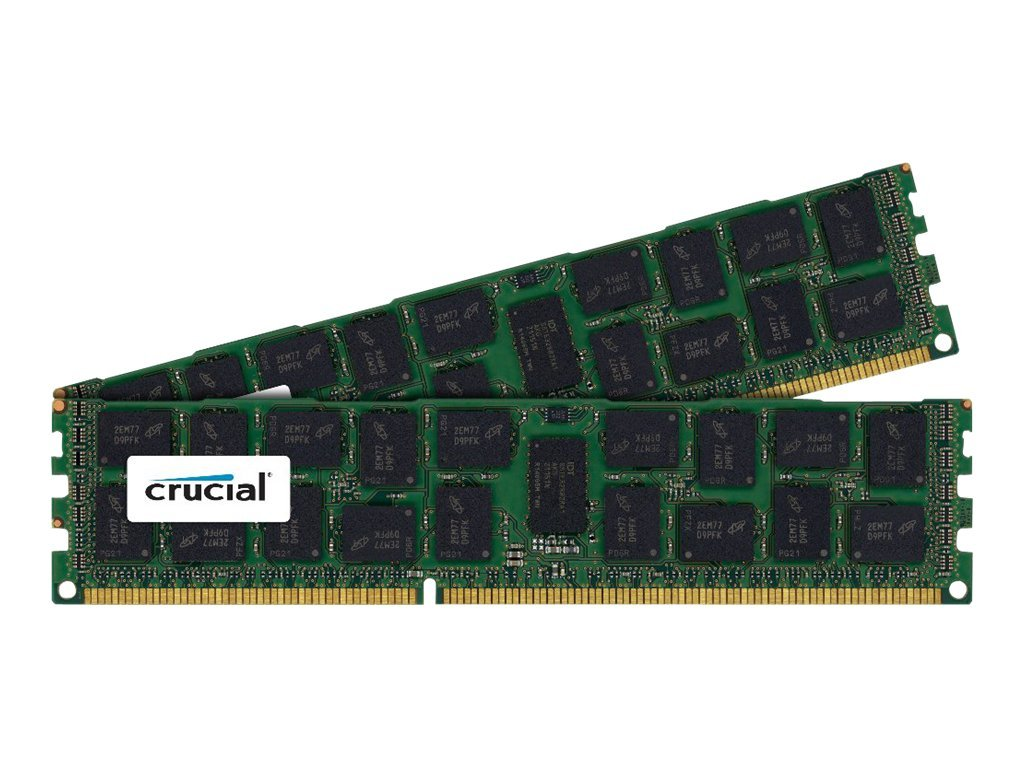 Crucial 32GB PC3-12800 240-pin DDR3 SDRAM DIMM Kit, CT2K16G3ERSLD4160B, 16401458, Memory