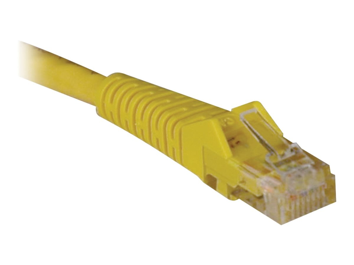 Tripp Lite 2Gb Cat6 Patch Cable, RJ-45, Molded, Snagless, M M, Yellow, 2ft, N201-002-YW