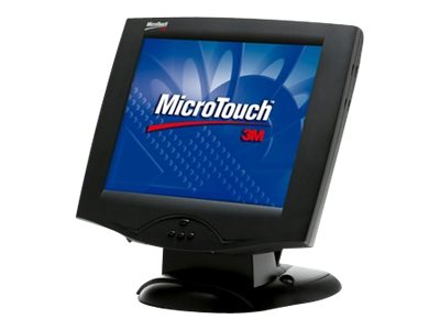 3M 15 MicroTouch MS1500SS LCD Capacitive Touchmonitor, USB, Black, 11-81375-225, 6892951, Monitors - LCD