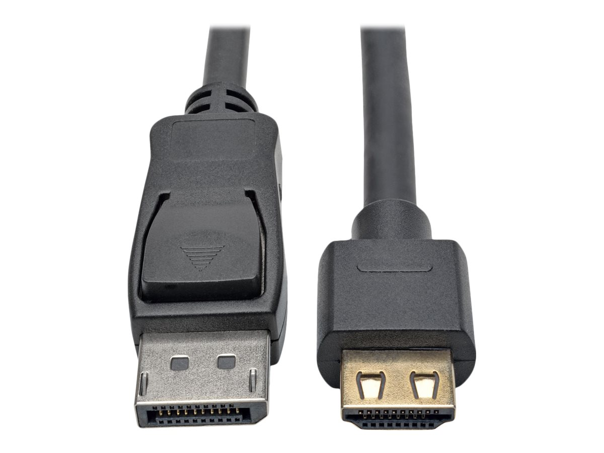 Tripp Lite DisplayPort 1.2a to HDMI M M 4Kx2K @ 60Hz Active Adapter Cable with Gripping HDMI Plug, Black, 15ft