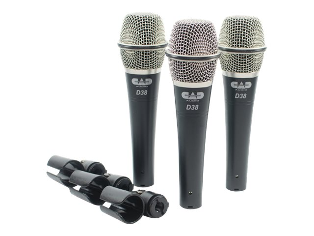 CAD Microphones Dynamic Mic 3 pack