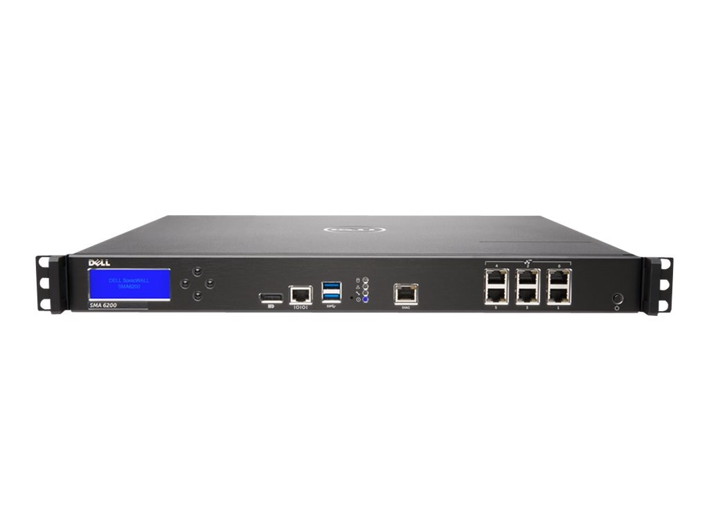 SonicWALL Secure Mobile Access 6200 with Administrator Test License, 01-SSC-2300, 20658483, Network Firewall/VPN - Hardware
