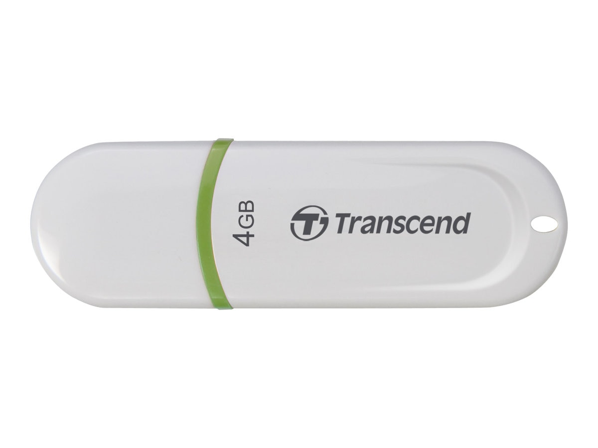 Transcend 4GB JetFlash 330 USB Flash Drive, White, TS4GJF330, 21486530, Flash Drives