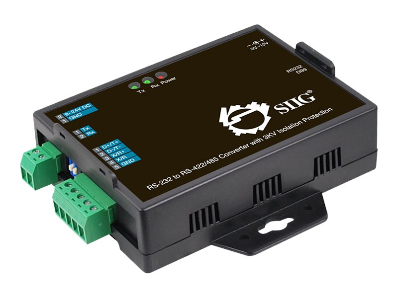 Siig RS-232 to RS-422 485 Converter w  3kV Isolation Protection, ID-SC0S11-S1, 16831554, Adapters & Port Converters