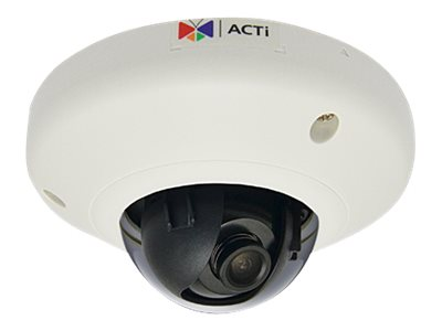 Acti 10MP Indoor Mini Dome with Basic WDR, 3.6mm Fixed lens, E97