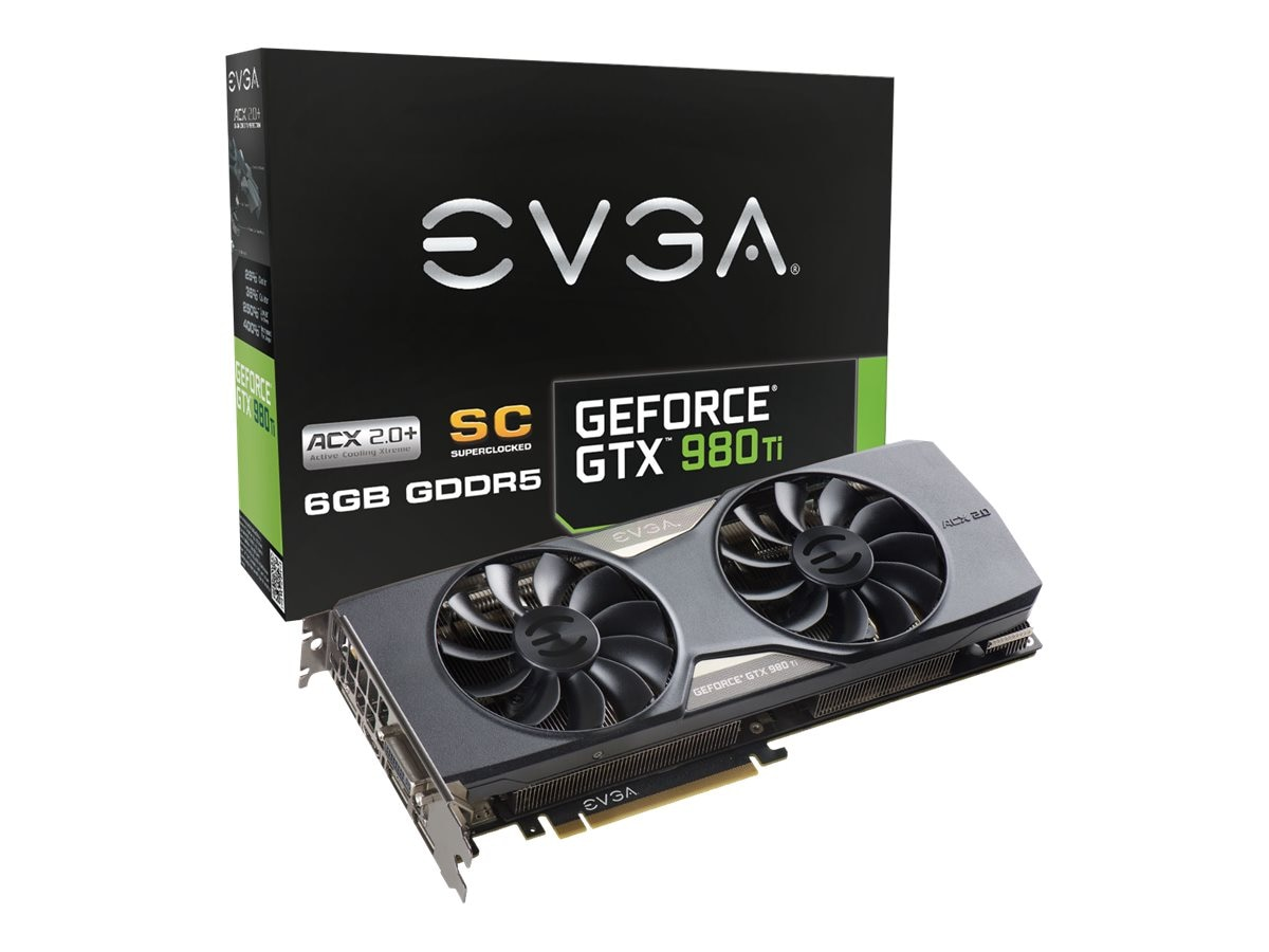 eVGA GeForce GTX 980 Ti PCIe 3.0 x16 Superclocked Graphics Card, 6GB GDDR5, 06G-P4-4993-KR, 22615073, Graphics/Video Accelerators